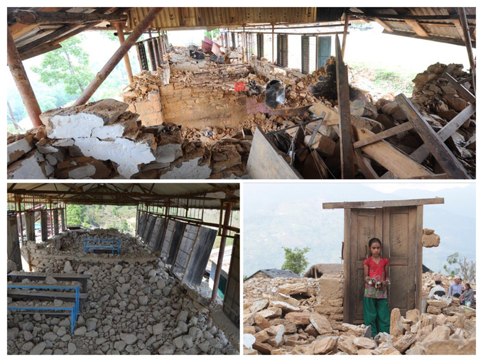 Damaged schools. Photo credit UNICEF Nepal