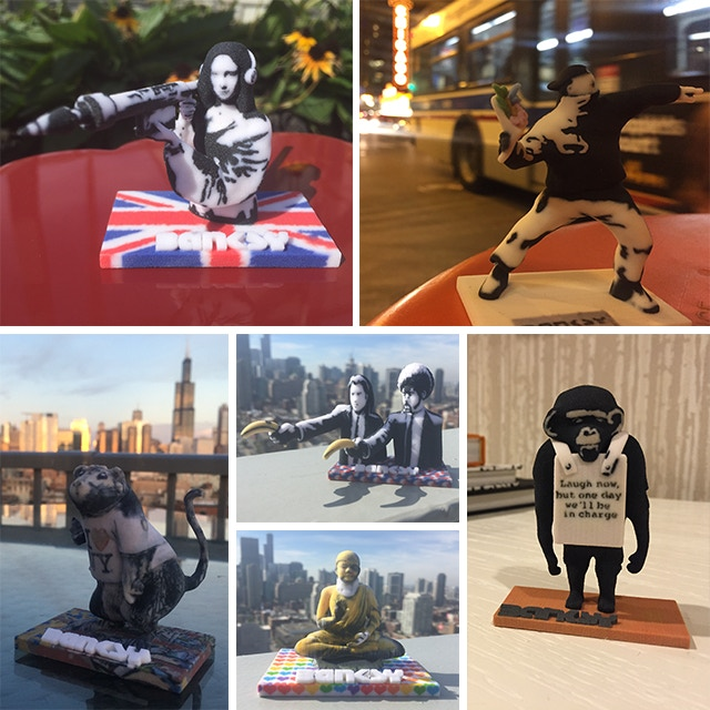 High Quality Banksy 3D Printed Figurines. Exclusively on Kickstarter.