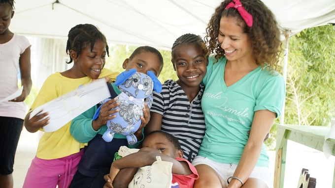 Sharing Happiness with the children of MAEC, a home for HIV/AIDS orphans in Haiti, April 2014  ©Smile2Smile