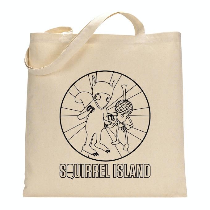 Squirrel Island cotton tote bag
