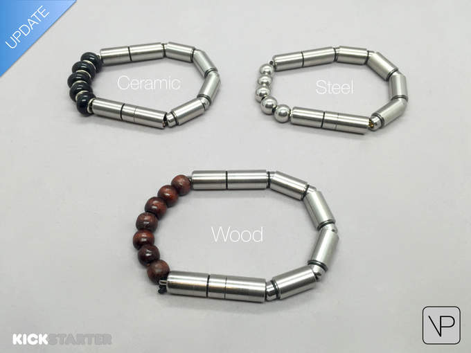 UPDATE: Every VertiPen will now come with 3 types of beads: Black Ceramic, Stainless Steel & Dark Wood. Express Yourself!