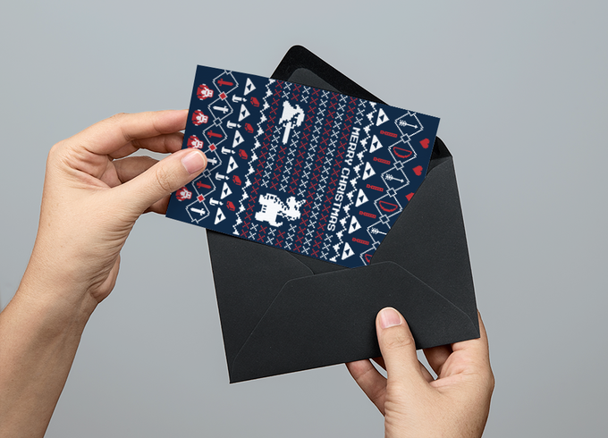 It's Dangerous to go Alone This Christmas - Please Note envelope colour may vary on final design