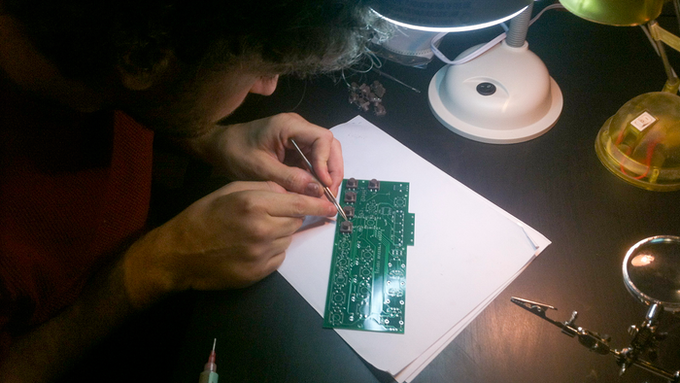Populating PCB for Prototype #2