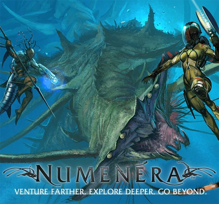 The fantastic, award-winning Numenera setting expands beyond the embrace of Earth's gravity, into the depths of the Ninth World's oceans, and into dimensions beyond our own.