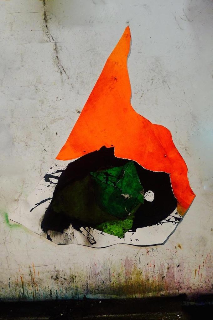 "Wesley Kimler, Afghan Kite Original painting, 66""x60"""