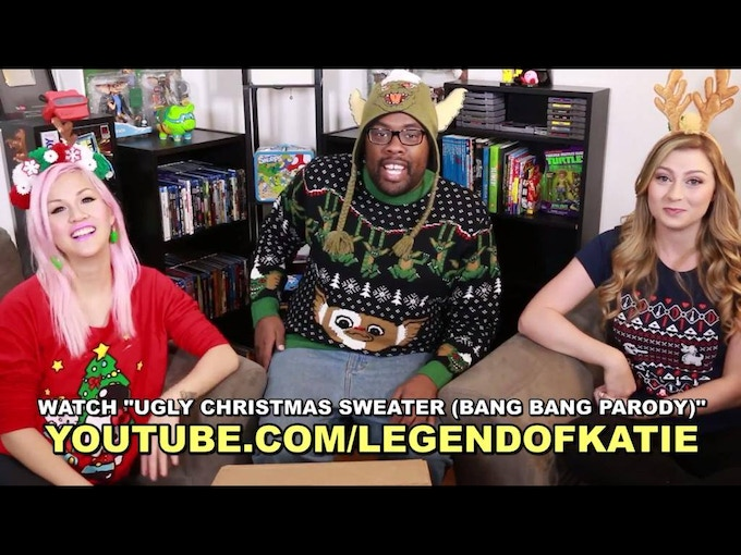 """I am a big fan of Andre """"Black Nerd Comedy"""" and came across a video with Katie Wilson (LegendOfKatie) wearing my Dangerous to go alone shirt."""
