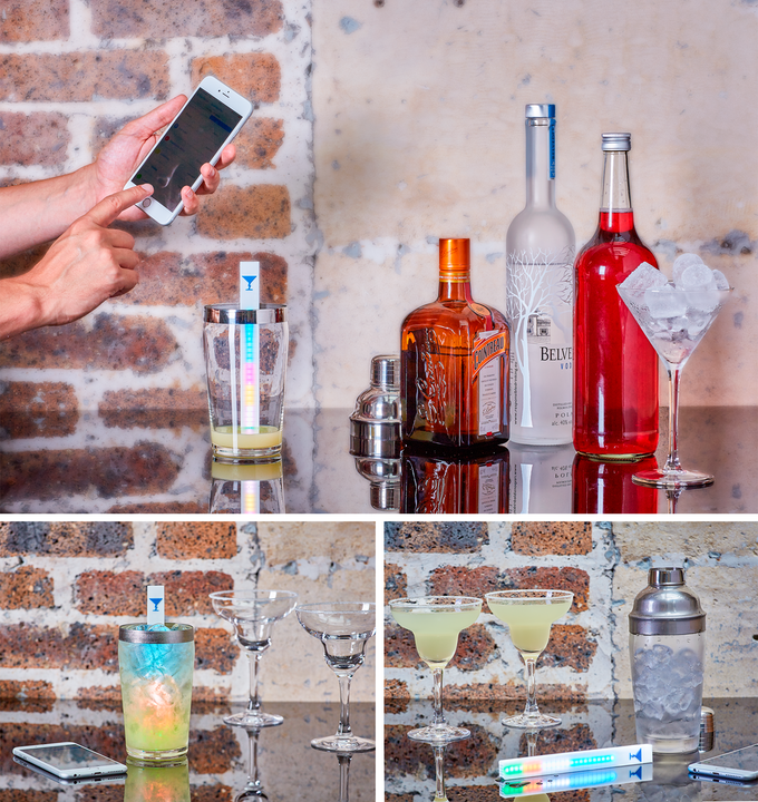 Choose from 100 recipes inside the app for The perfect drink mixer