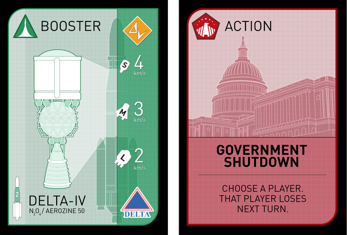 New graphics for the Rocket and Action Cards!