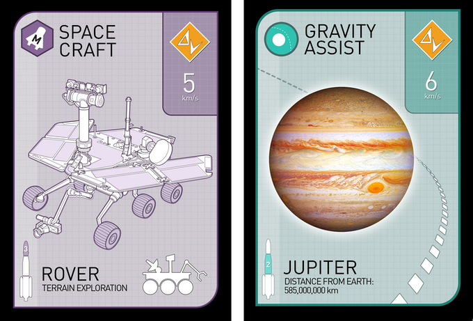 New graphics for the Spacecraft and Gravity Assist Cards!