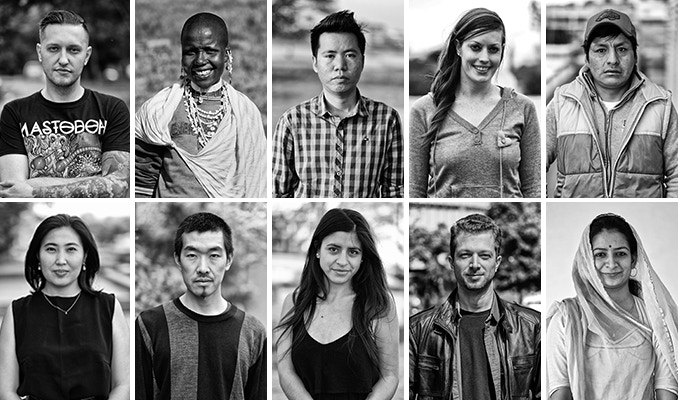 Portrait of 10 people among the 65 I interviewed throughout the world.