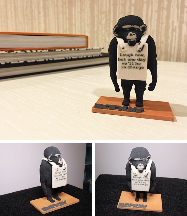 High Quality Banksy 3D-Printed Figurines. Exclusively on Kickstarter.