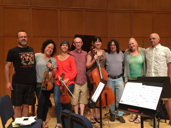 """Recording """"Somewhere I have never traveled"""" at Kaul Auditorium, Reed College"""