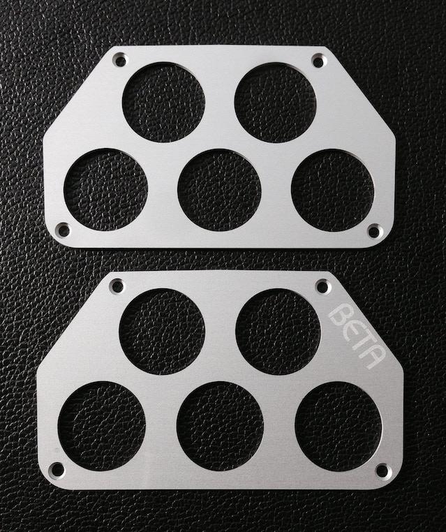 Finished Aluminium Control Pod Front plates
