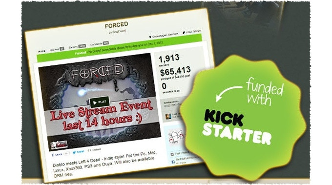 Our first game FORCED was successfully funded on Kickstarter!