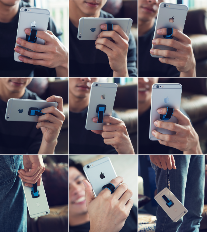Ungrip is convenient and flexible. There are over a dozen ways to hold your phone with it.