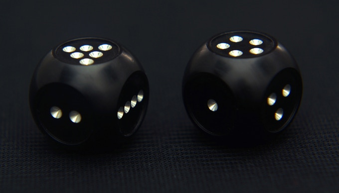 New and completely redesigned series of custom metal dice.