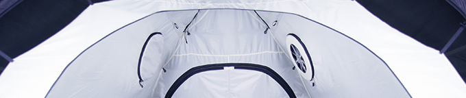 Fan zips into the side of the inner tent