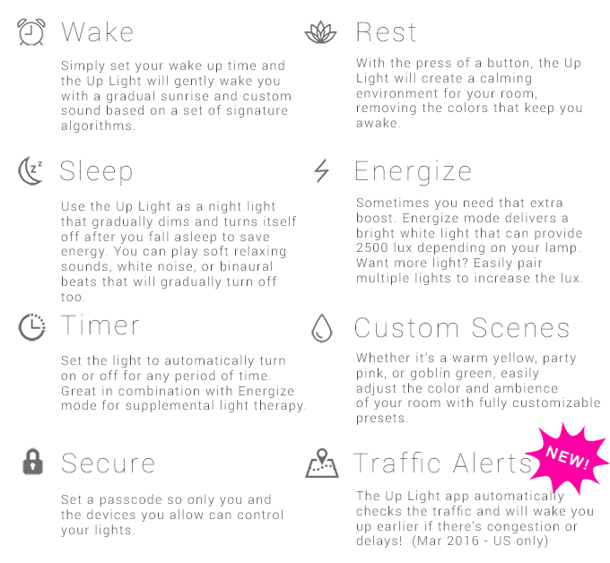 The Up Light: Smart Wake Up Light by The Up Light — Kickstarter