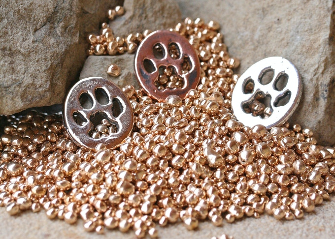 Cougar/Mountain Lion Paw in Bronze, Copper and Silver