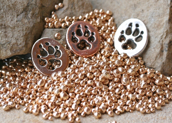 Wolf Paw in Bronze, Copper and Silver