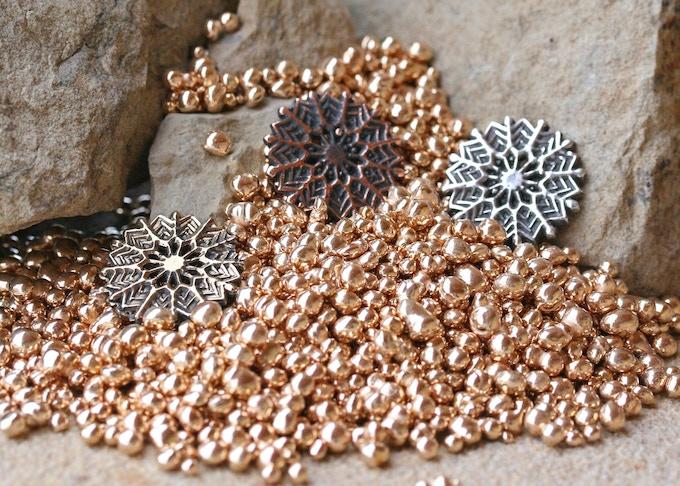 Snowflake in Bronze, Copper and Silver