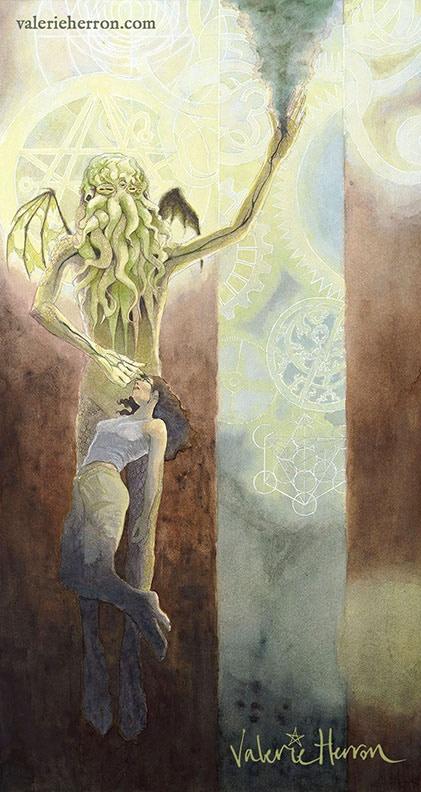 """""""Cthulhu Magus"""" — Kickstarter exclusive giclee art print"""