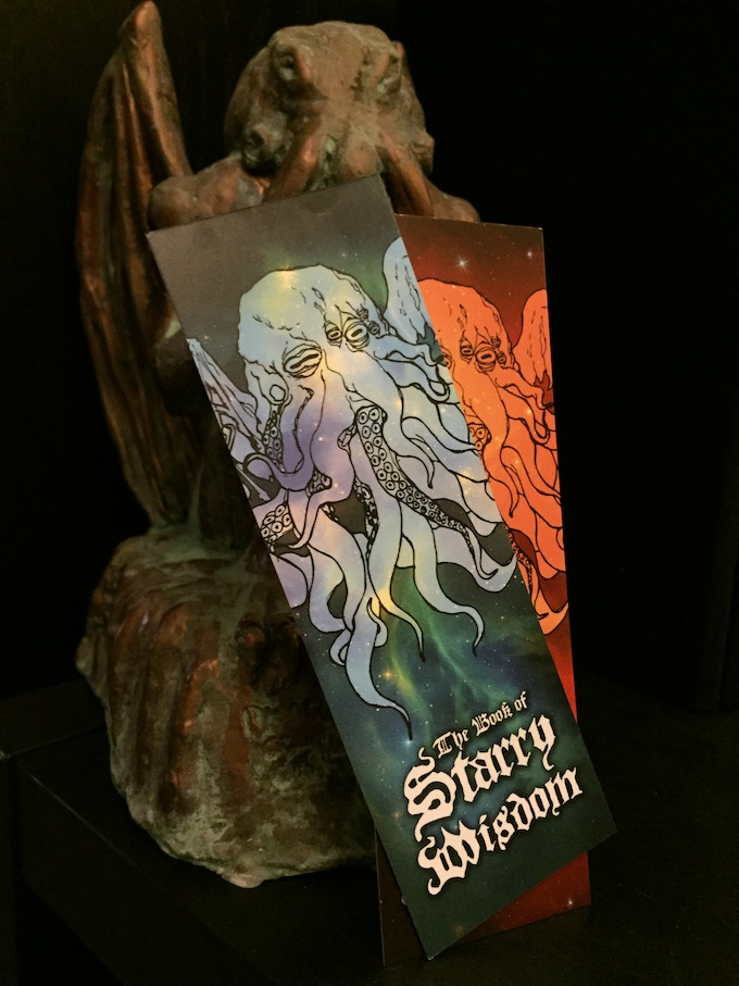Double-sided velvet cover stock bookmark