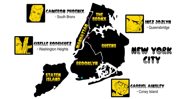NYC map designed by Stephane Metayer