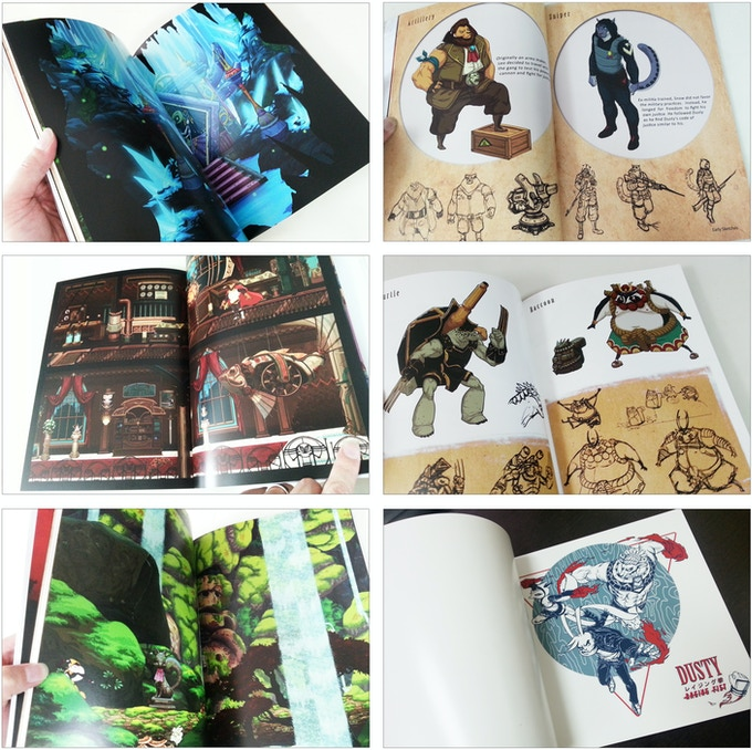 Artbook and Instruction Manual Sample
