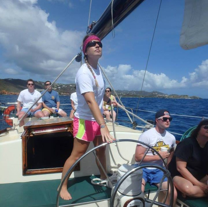 Sarah Thomas spent a season crewing on a sailboat that sailed between St. Thomas and St. John. She'll contribute her sailing expertise and a wealth of local knowledge to the project.