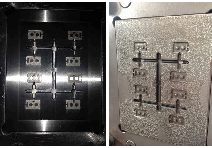 """Same goes for the Lace Anchors.  Once the design was finalized, 3D prints were sent to the tooling company to prepare """"molds""""."""