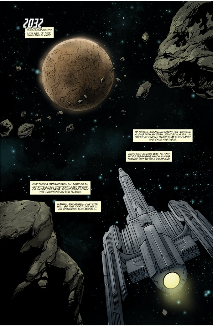 PAGE 1 FROM ISSUE #1 IN THE BEGINNING, THERE WAS THE MISSION