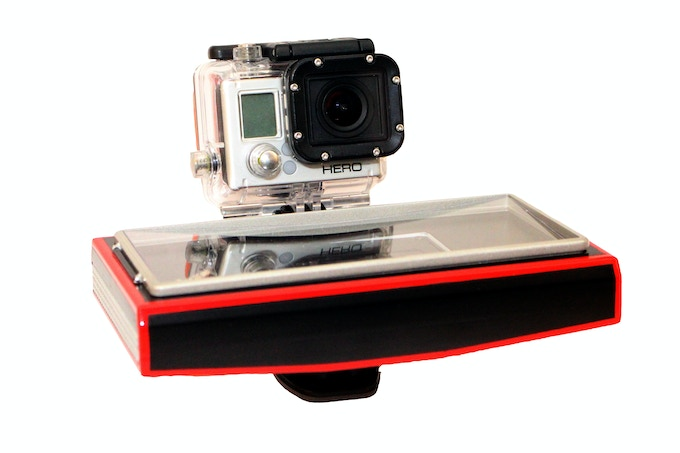 Here is a sample prototype exemplifying how a GoPro can be attached to the Noice Speaker.
