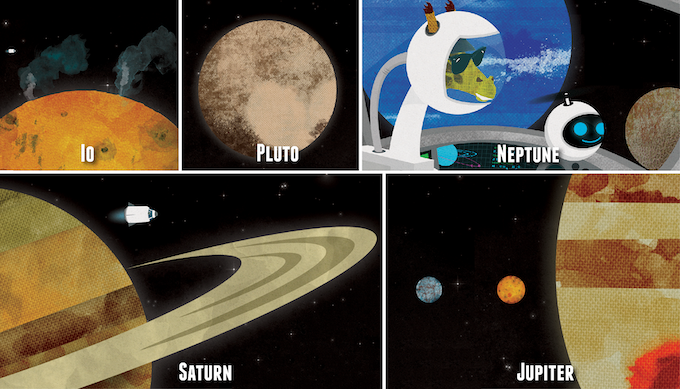 Illustrations are based on the latest space science (via NASA)