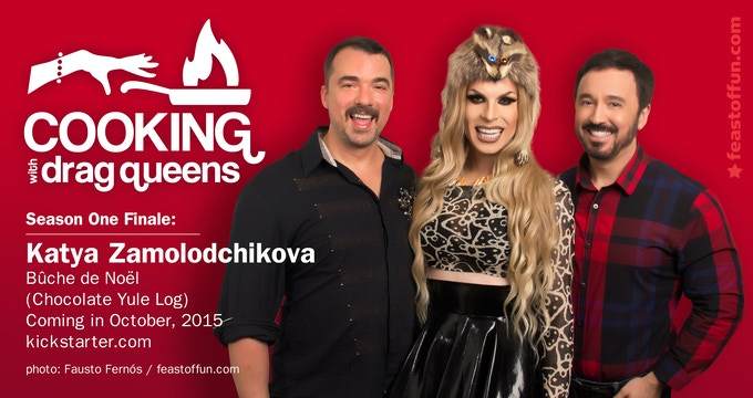 Coming soon: the Season One Finale of Cooking with Drag Queens, featuring Katya Zamolodchikova.