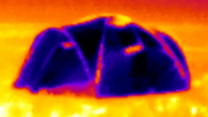 Siesta4 viewed with infrared thermal camera