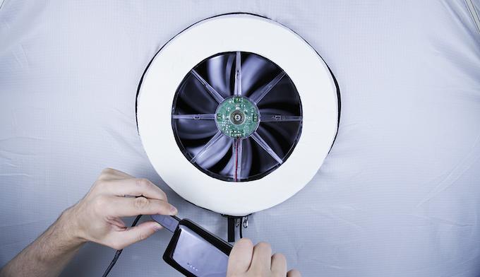 Prototype fan with USB power bank