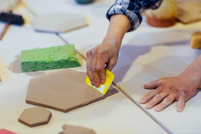 Master ceramicist KT Tierney at work