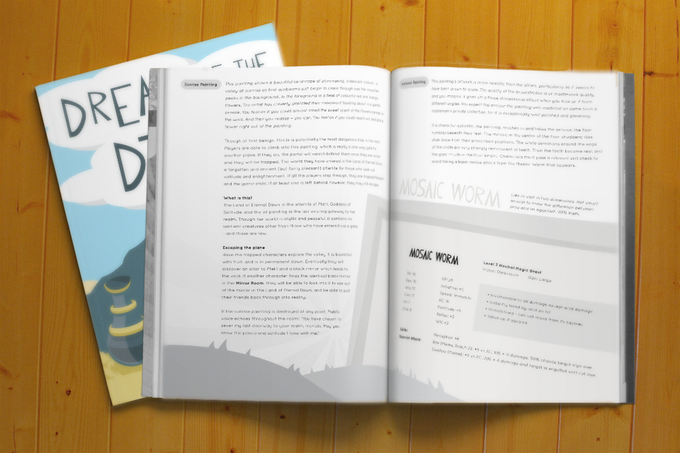 A sample page of the final layout in progress