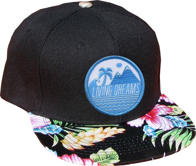 c81934fc54b Our premium fitting snapback hats provide a great feel and look! The Living  Dreams patch matching with the colors just takes this hat to the next level!