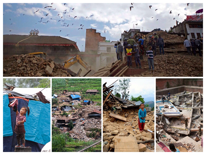 Thousands of adults and children lost their homes. Photo credit UNICEF Nepal.