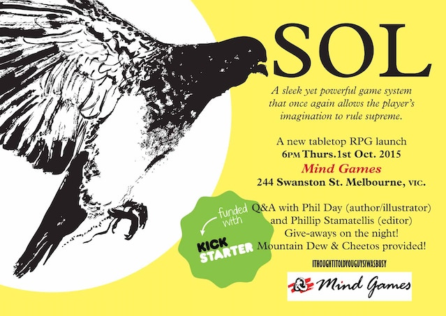 Invite for SOL launch at Mindgames.