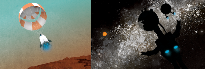 56 Pages of beautiful space art in hardcover