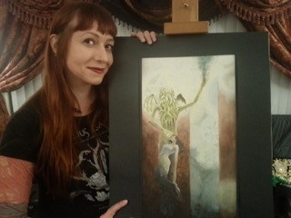 """Original painting, """"Cthulhu Magus,"""" available as part of the Heeder of the Call reward."""