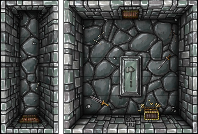 2 rooms of the dungeon