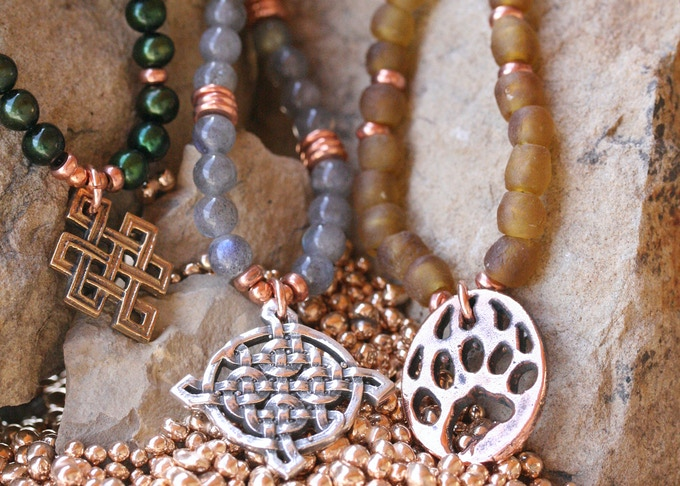 Bead options! Freshwater Pearl, Labradorite or Recycled Glass
