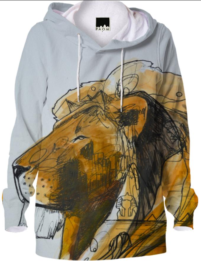 Alec Hamilton's exclusive Lion hoodies.