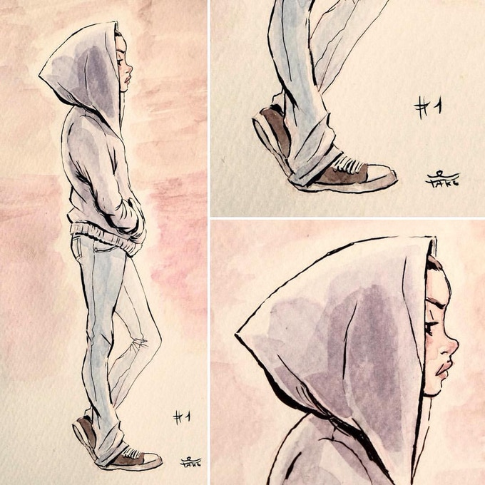 Character Ink Sketch by David Tako **SAMPLE**
