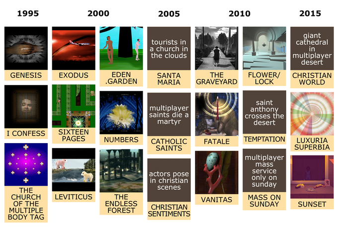 In the 20 years we've been creating, projects and ideas with religious references continuously emerged.