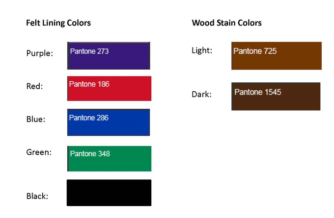 Options Color Guide